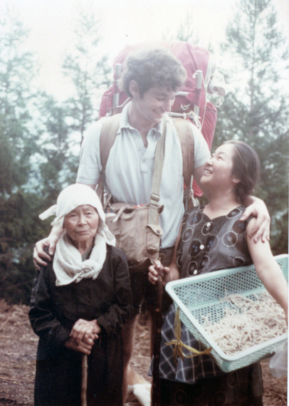A college-aged me with Takemoto-San & her mother — Japan, Summer 1975