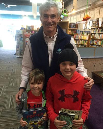 At Blue Manatee in Cincinnati, I met a fan and a future fan!