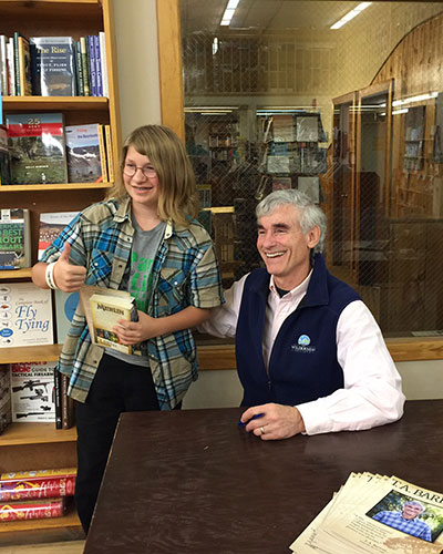 Then it was on to Bozeman, MT, where I met fans, young and old, at the Country Bookshelf.