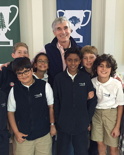 With some of the students from the school in Portola Valley, CA.