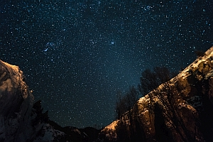 Starry skies over the Colorado Rockies